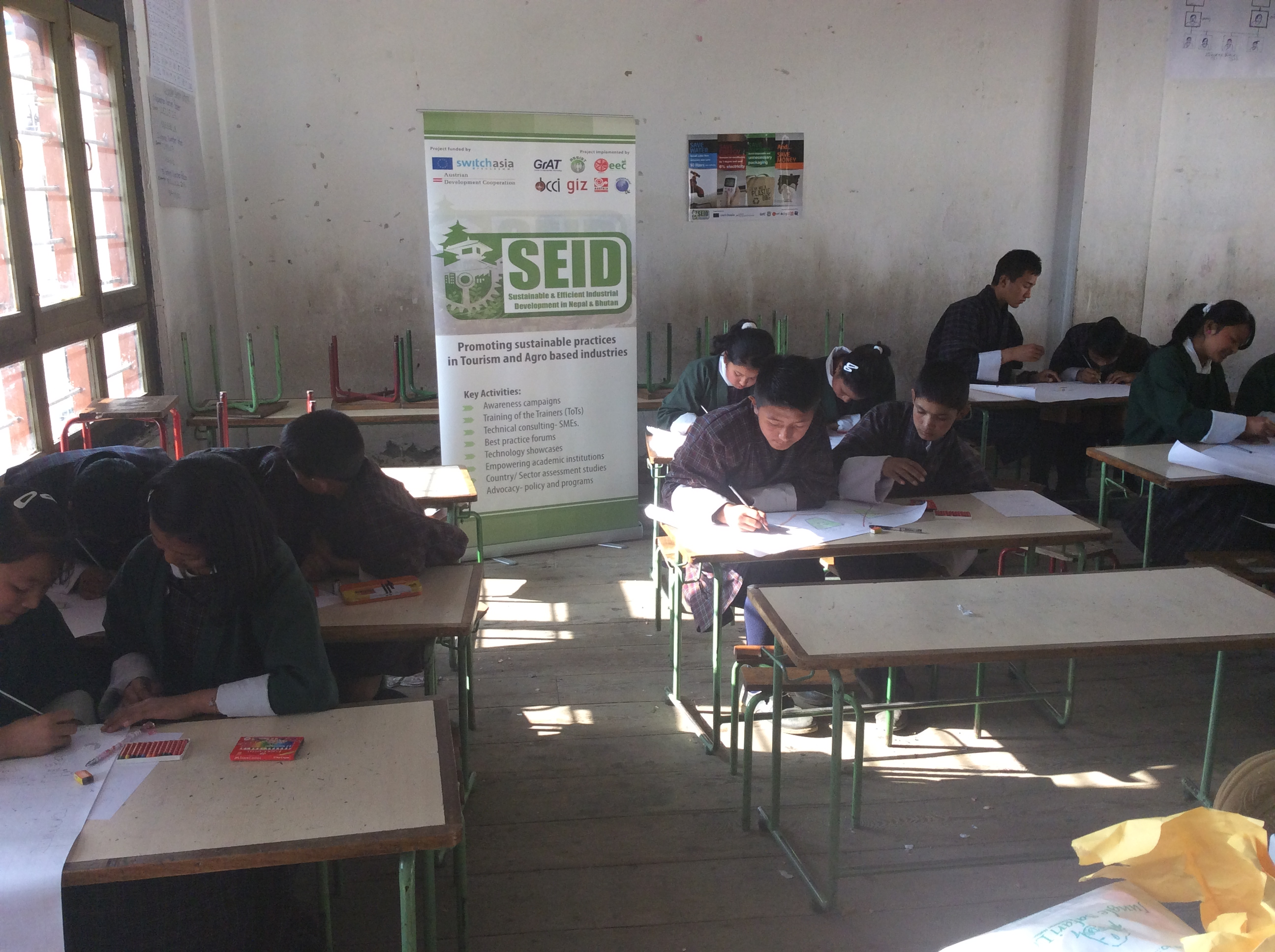 SEID Poster Competition at Chang Rigphel Lower Secondary